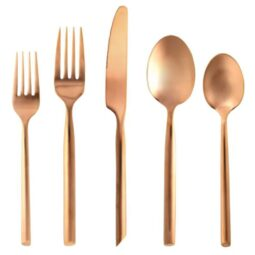 Brushed Copper Flatware Collection