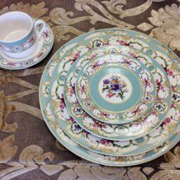 Marie Antoinette Dinnerware Collection- Blue