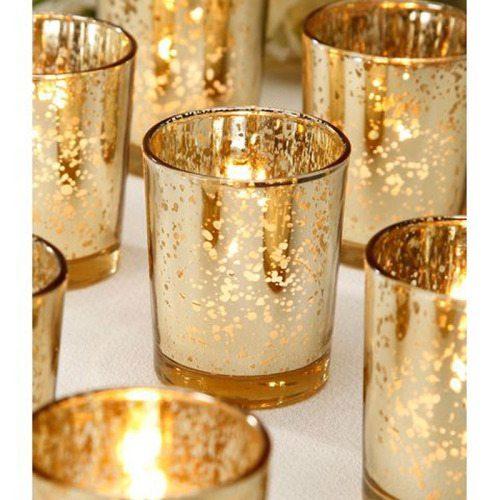 Mercury Glass Votive Holders Mtb Event Rentals