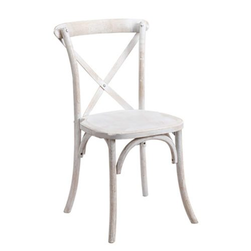 Distressed X Back Chair Mtb Event Rentals