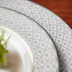 Marcella Dinnerware- Platinum