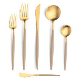 Ivory & Gold Flatware