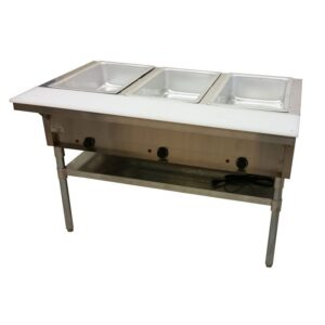 three tray steam table for rent