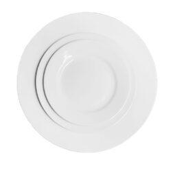 Round White Dinnerware Collection