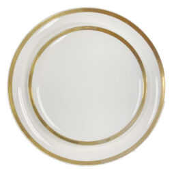 Gold Rim Coupe Dinnerware Collection