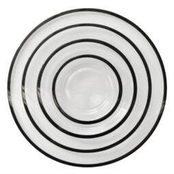 Onyx Rim Glass Dinnerware Collection